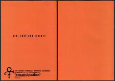 1996 Prince Emancipation 2pg Japan album promo ad / mini poster advert p12r