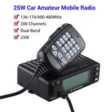 25w Mini 200ch Dual Band Vhf/uhf Vehicle Amateur Mobile Ham Radio Walkie Talkie