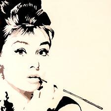 AUDREY HEPBURN - JUST SMOKING - FINE ART PRINT POSTER 13x19 - PAQ004