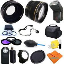 52MM PRO KIT HD ALL YOU NEED /7 LENS/FLASH/BAG/+ MORE Kit for NIKON D5000 D5100