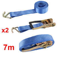 9.84ft Ratchoox Ratchet Tie Down Straps 2T Heavy Duty with Rubber Handle for Trailer Cargo Green 4, 3m x50mm
