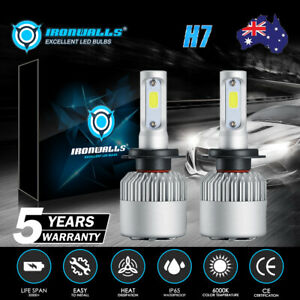 Pair H7 9600LM LED Headlight Low Beam Bulbs for Holden VF Commodore SS SSV HSV
