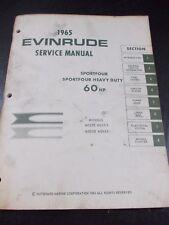 1965 OMC Evinrude Service Manual 60HP Sportfour- Sportfour Heavy Duty Repair