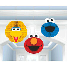 Sesame Street Honeycomb Decorations 3ct ~ Happy Birthday Party Supply Decoration