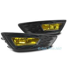 15-17 FORD FOCUS S SE LOWER BUMPER DRIVING FOG LIGHTS LAMP YELLOW w/BEZEL+BULB