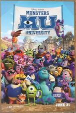 MONSTERS UNIVERSITY MOVIE POSTER 2 Sided ORIGINAL *SIGNED* 27x40 BILLY CRYSTAL
