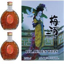 2x 200ml Original chinesischer Pflaumenwein China Plum Wine 10,5%VOL Wein