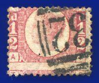 1878 SG49 ½d Rose Plate 15 MISPERF AT Clear Profile Good Used CV £45 aojh