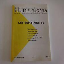 Revue Humanisme Les sentiments décembre 1994 n°219