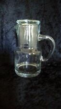 Clear Glass Nightside Carafe and Tumbler with Handle