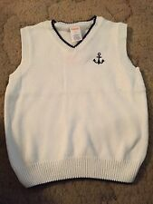 Gymboree Picture Day Boys Sweater Vest White Size 3T Anchor Nwt