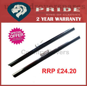 """8"""" WIPER BLADES STAINLESS STEEL TRIUMPH TR2 TR3 TR3A SPOON FIT - ONE PAIR (OEM)"""