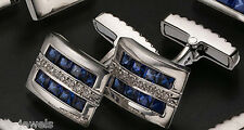 Cufflink 14k  white gold/diamonds  005