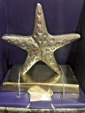 Tommy Bahama AUTHENTIC Stocking Holder Hanger Silver/Gold Starfish Metal NEW