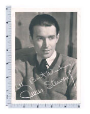 James Stewart Photograph 1940s Autographed in the Negative Movie Star Photo