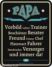 Blechschild 17 x 22, PAPA, Werbeschild Art. 3649