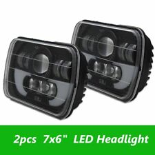 "2pc 7x6 5x7"" 120W LED Projector Sealed Beam Headlight For Jeep Cherokee XJ Truck"