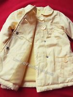 NEW Girls GEORGE yellow white flower spring floral coat 9-12 / 12-18 Months