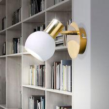 Wand Strahler Leuchte gold Wohn Zimmer Lese Lampe Kugel Glas Spot verstellbar