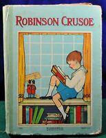 The Adventures of Robinson Crusoe by Daniel Defoe Book w/63 illustrations