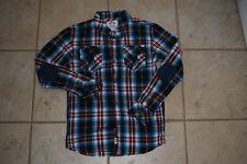 New listing Boy's Appaman Navy, Blue, Red Plaid LS Button Down Shirt sz 14 (fits like 12)