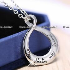 Best Friends Love Necklace Women Rf2 Xmas Gifts for Her Sister Engraved Infinity