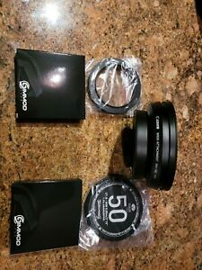 Simmod lens Sirui 50mm Cap and 67mm to 82mm filter adaotee