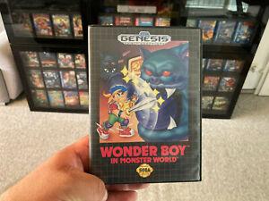 "Orig. Sega Genesis (Mega Drive) Wonder Boy in Monster World ""aus Sammlung"""