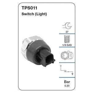 Tridon Oil Pressure Switch TPS011 fits Toyota Yaris 1.3 (NCP130R), 1.3 (NCP90...