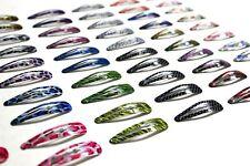100pc Mixed Barrette Snap Hair Clips Hairpin No Slip Accessory 90s Fashion BULK