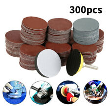 300PCS 50MM Sanding Discs Pad Kit for Drill Grinder Rotary Tools + Backing Pad