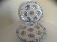 M. B. F. A. PORNIC ARCACHON French set of 5 midcentury oyster plates EUC