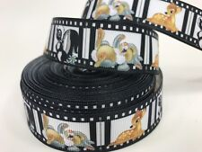 "BTY 1"" Disney Bambi Film Strip Grosgrain Ribbon Hair Bow Scrapbooking Lisa"