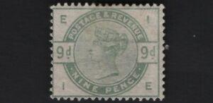 1884 QV SG195 9d Dull Green K25 MH Mint Hinged Some Gum CV £1,250