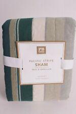 NWT Pottery Barn PB Teen Pacific Stripe standard sham green