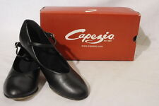CAPEZIO Tap Jr. Footlight Dance Shoes, Black, Womens Size 8.5M-B25