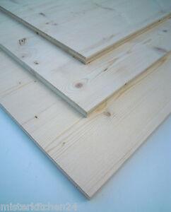 Fichte Dreischichtplatte 19mm Verbundplatte 119x59cm Tisch Regal Möbel Tür