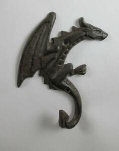 Cast Iron Wall Mounted Dragon Hook Key Rack Key Holder Leash Hook Wall Decor