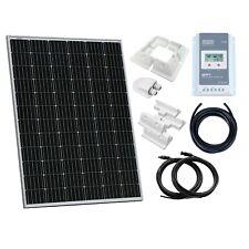 200W 12V/ 24V monocrystalline solar panel kit for camper, boat, off-grid 12 volt