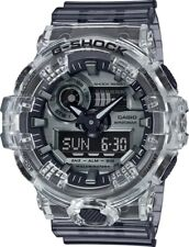 Casio G-Shock Analog Digital Resin Skeleton Clear/Silver Men's Watch GA700SK-1A