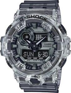 Casio G-Shock Analog Digital Resin Skeleton Clear/Silver Men's Watch GA700SK-1A