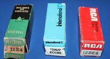 NOS radio TV tubes RCA 12BE6,  ECC82, Sylvania 12X4