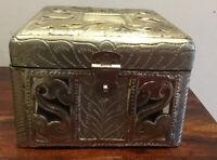 Stunning Wooden, Pressed Metal & Mirror Box
