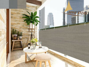 3 FT Tall Balcony Privacy Fence Screen Shade Mesh Fabric Net for Patio , Garden