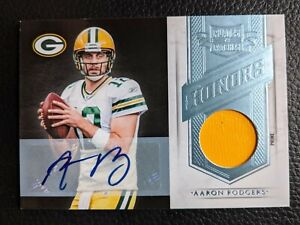 2011 PLATES & PATCHES AARON RODGERS AUTOGRAPH GAME JERSEY GREEN BAY PACKERS 1/1