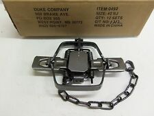 1  Duke # 2 Square Jaw Offset Coil Spring Trap Coyote Bobcat Fox Lynx 0493