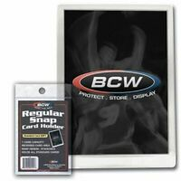 (25-Pack) BCW Regular Snap Card Holder Recessed Full Size Frames Cards Stackable