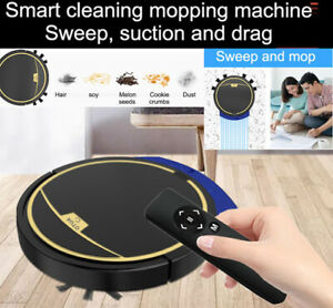 Smart Robot Mop Vacuum Cleaner Sweeper Wireless Automatic House Cleaning Mopping