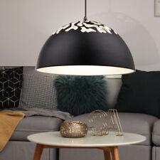 Suspension noir mat blanc perforations décoratives luminaire lustre cuisine