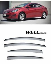For 11-UP Hyundai Elantra Sedan WellVisors Side Window Visors W/ Black Trim